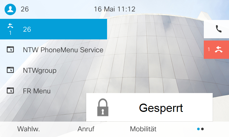 Anrufsperre am Cisco Telefon / Callmanager