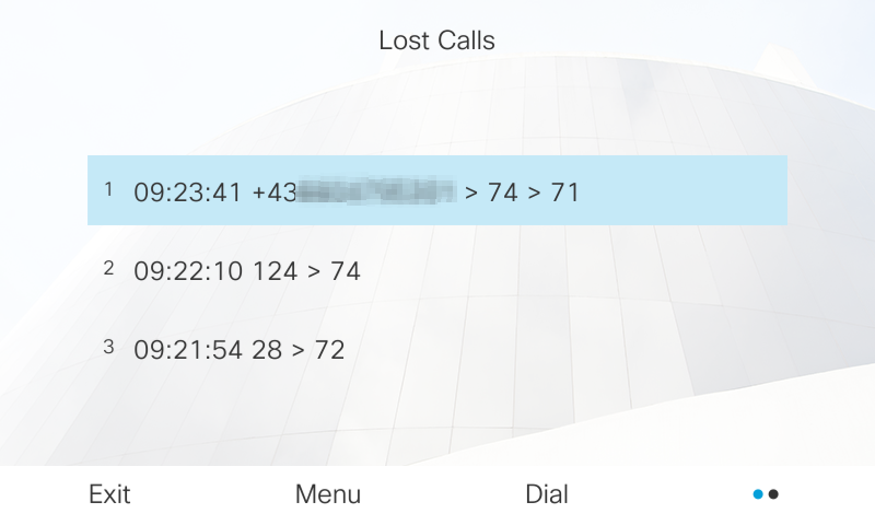 List of all lost group calls