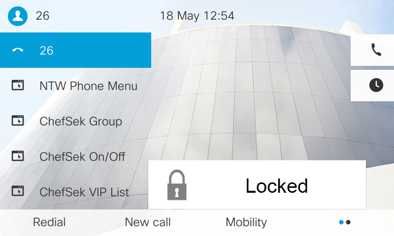 Call lock on Cisco phone